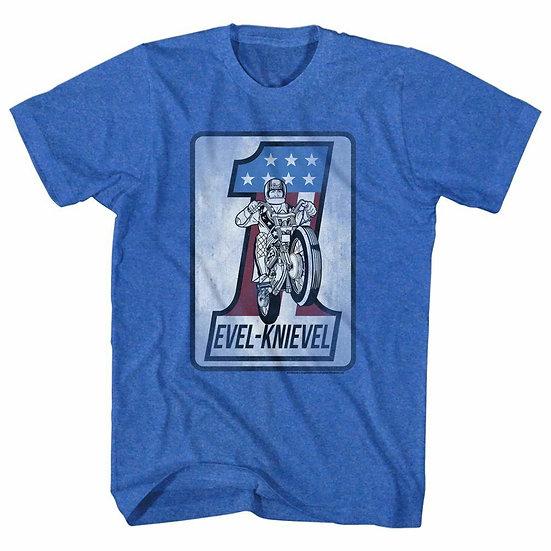 Evel Knievel T-Shirt / Evel Knievel Stuntman Daredevil Stuntbike Tribute Tee