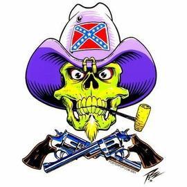 Rebel General Confederate Zombie Sticker