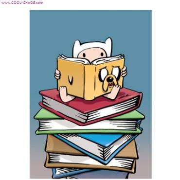 Adventure Time Jake Book Finn Read Magnet