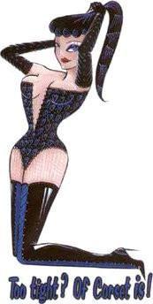 Burlesque Corset Pin-up Girl Sticker