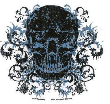 Ornate Tribal Tattoo Skull Sticker