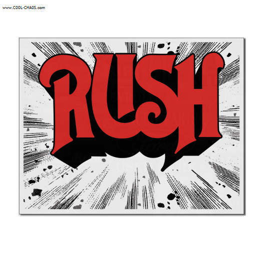 RUSH Tin Sign / Rush 1974 Album Cover Wall sign