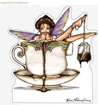 Purple Teacup Fairy Sticker