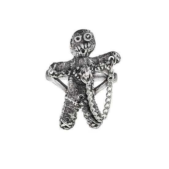 Pewter Voodoo Doll Ring
