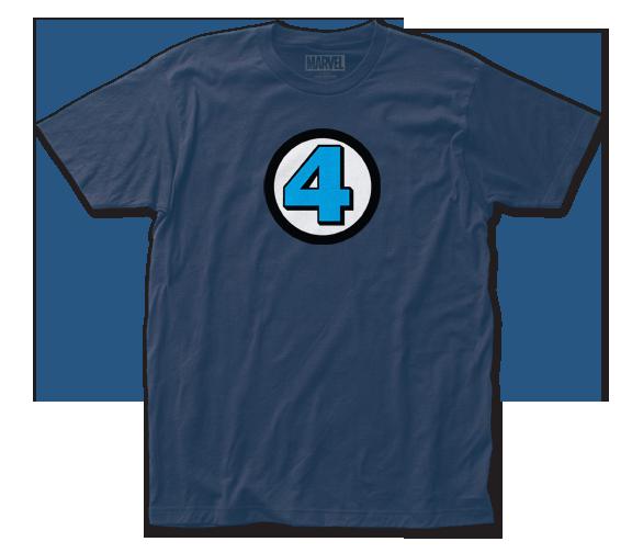 Fantastic Four T-Shirt / Fantastic 4 Logo Comic Book Tee