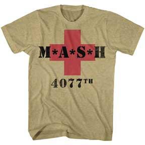 MASH T-Shirt / M*A*S*H 4077TH Khaki Heather TV Show Tee