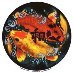 Tribal Koi Fish Sticker