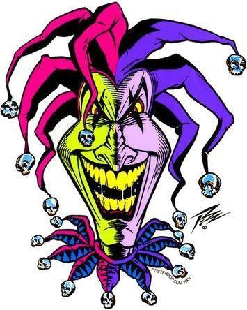 Demented Clown Joker Freak Sticker