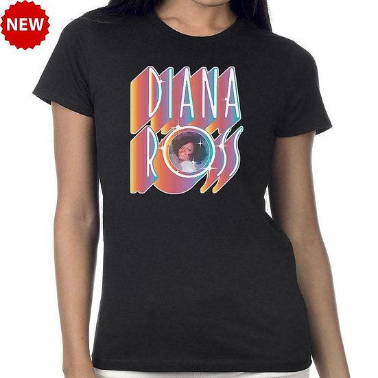 DIANA ROSS T-SHIRT / IN LIGHTS! SHINE! 70'S 80'S DANCE MUSIC THROWBACK TEE