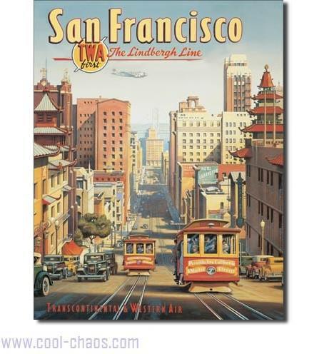 Travel San Francisco Trolley Cars Sign