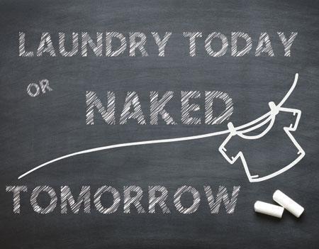 Funny Laundry Tin Sign