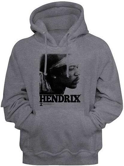 Jimi Hendrix Hoodie / Hendrix Profile Rock Hooded Sweatshirt
