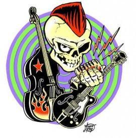 Rockabilly Veritgo Rocker Sticker