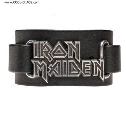 Iron Maiden Leather Wriststrap OfficiaI Iron Maiden Metal Merchandise