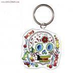 Candy Sugar Skull Keychain