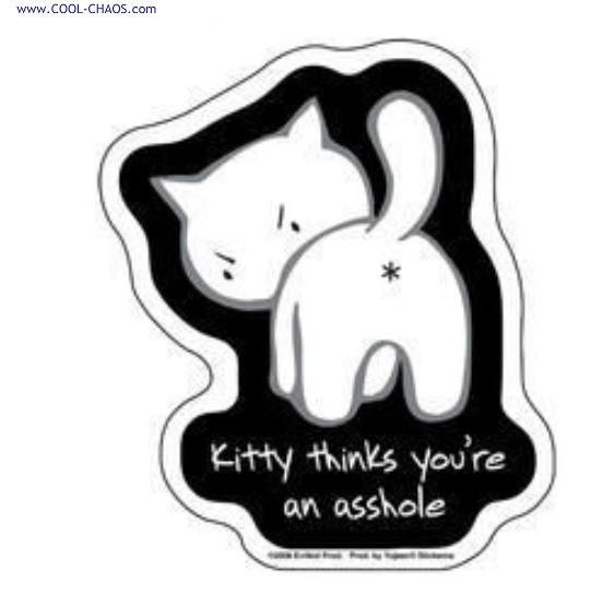 Cat from Hell Bad Kitty Sticker