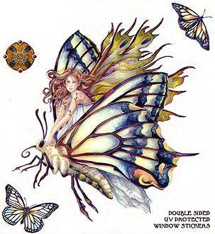 Chrysalis Butterfly Fairy Sticker
