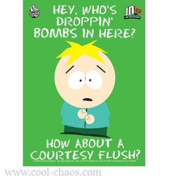 South Park Dropping Bombs Sticker