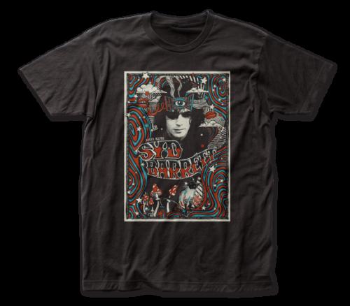 Syd Barrett T-Shirt / Mushroom 'You'll lose your mind' Psychedlic Rock Tee-Black