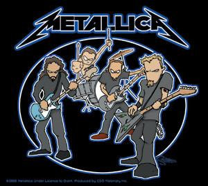 Cartoon Metallica Sticker