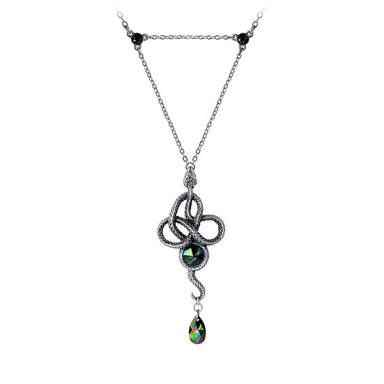 Pewter Serpent Snake Wiccan Rule of Three Necklace by Alchemy Gothic