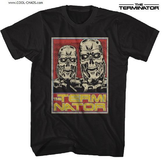 Terminator T-Shirt / Retro T800 Terminator Skeleton Tee