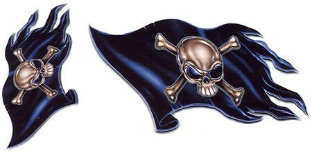 Pirate Flags Jolly Roger Flag Stickers Set