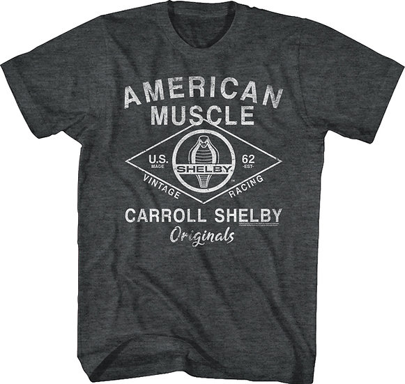 Carroll Shelby T-Shirt / American Muscle Car Shelby '62 Vintage Racing Tee