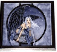 Purple Dusk Fairy Compact Mirror