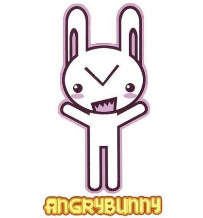 Angry Bunny Sticker