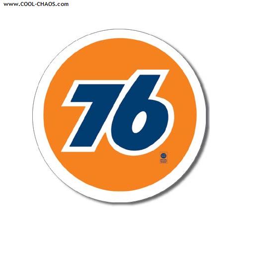 Union 76 Sign / Round, Retro, Replica Union 76 Gas Tin Sign