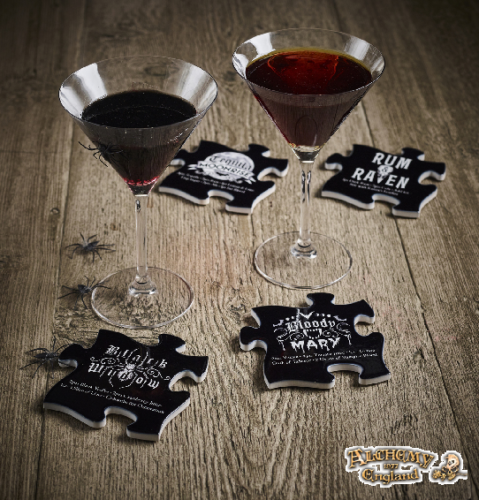 Gothic Cocktail Recipes Coasters by Alchemy Gothic 1977