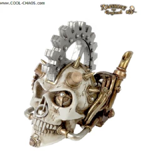 Gearhead Steampunk Skull Statue, Alchemy Gothic 1977,Wicked Cool Horror Skull