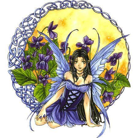 Violet Celtic Fairy Sticker