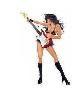 Rock of Love Mini Rocker Chick Sexy Sticker