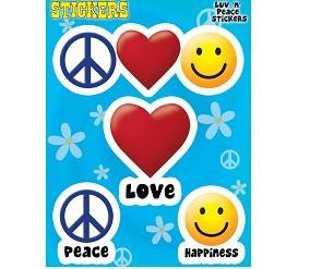 peace love happiness Stickers set