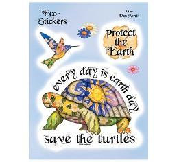 Save the Turtles Save our Planet Earth Stickers Set