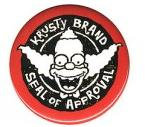 Krusty the Clown Button