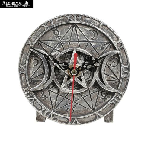 Triple Moon Wiccan Clock / Mystical Desk Clock