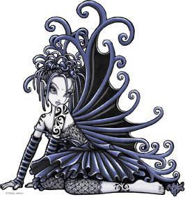 Black Purple Lace Gothic Fairy Sticker
