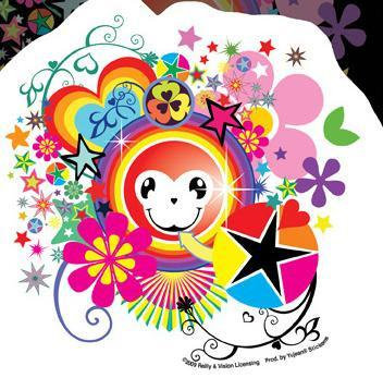 Happy Rainbow Monkey Sticker