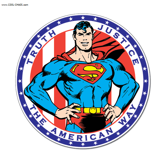 Superman Tin Sign / Truth, Justice and the American Way Sign