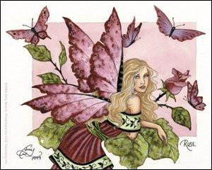 Rose Fairy Sticker by Amy Brown