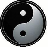 Mini round Yin Yang Sticker