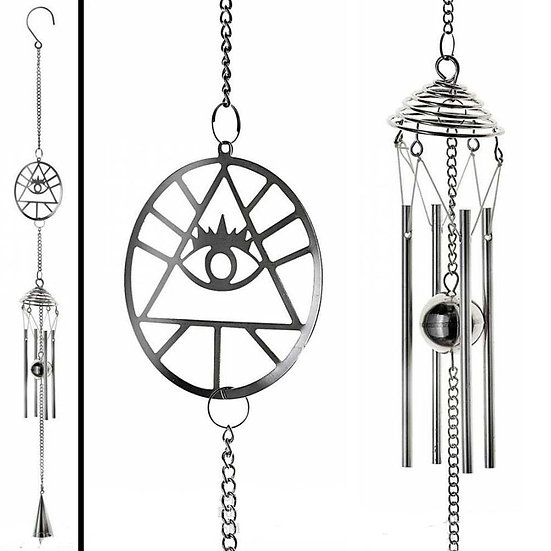 Mystical Magical All-Seeing Eye of Privdence Indoor Chimes Hanging Decoration