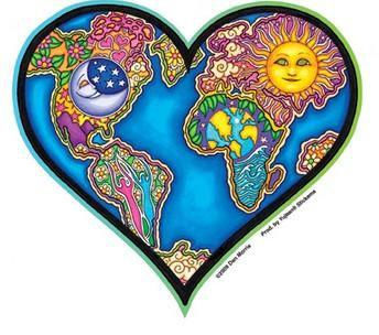 Earth Heart Planet Sticker