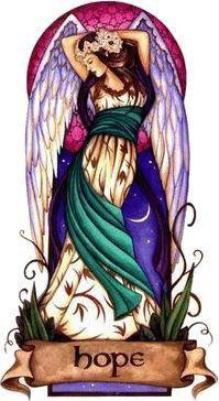 Angel Virtues Hope Angel Sticker