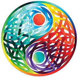 Rainbow Yin Yang Celtic Sticker