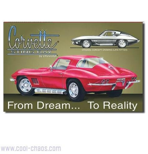 From Dream to Reality Corvette Sign