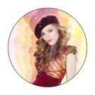 Madonna Button #3 Madonna Beret